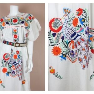 Vintage 70s Mexican / Oaxacan Cinco de Mayo Dress